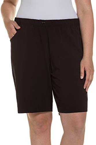 Ulla Popken Damen Jersey Shorts, Schwarz, 52
