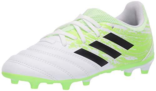 adidas Men's Copa 20.3 Firm Ground Soccer Shoe, White/Black/Signal Green, 11.5K