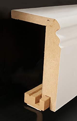 Heizrohrabdeckleiste 96 x 64 mm 719.9664.31 -mit selbstklebendem Montageprofil | Verkleidung | Heizrohr Abdeckung | Rohrverkleidung -Weiß