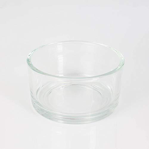 INNA-Glas Mini Fuente de Cristal Redonda - Cuenco Decorativo Vera, Transparente, 8cm,...