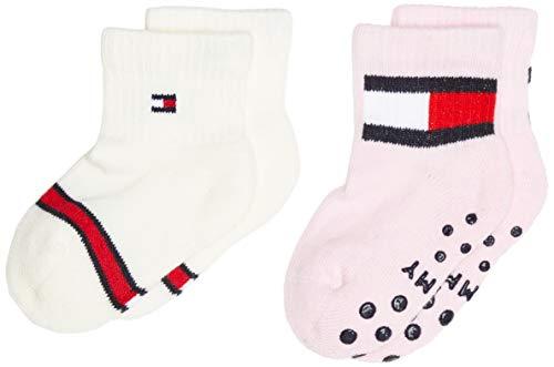 Tommy Hilfiger Th Baby Sock 2p Flag calze, combo rosa, 19-22 (Pacco da 2) Unisex-Bimbi