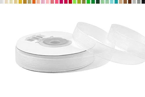 Creativery Organzaband 12mm x 25m Weiß