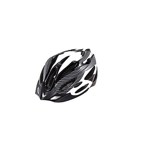 Bike Helmet Certified Mountain & Strada Caschi Da Bicicletta Per Adulto Uomini E Donne Casco Cap Bmx Casco Protettivo Per Gli Sport Esterni Libero Di Formato Nero Bianco 1pc