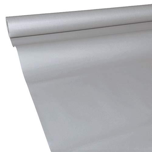 JUNOPAX 62111490 Papiertischdecke 50m x 1,15m Stahl-grau nass- und wischfest