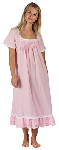 The 1 for U 100% Cotton Short Sleeve Nightgown - Evelyn (XXL, Pink)