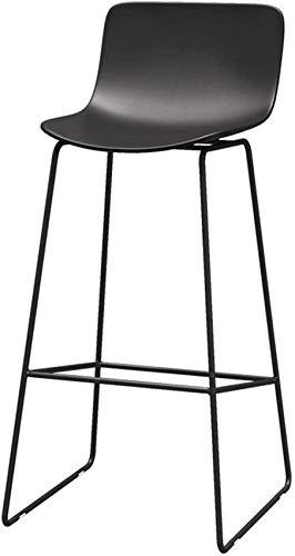 XHCP Taburetes para Sala de Estar Sillas Altas para Oficina Diseño de Muebles Modernos - 65/70/75 cm Altura del mostrador Taburete de Bar con Respaldo Medio Base de Metal - Asiento Ergo