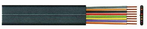VS-ELECTRONIC - 274076 Telefonkabel, 8-Adrig Flach Spule, 100 m Länge, Schwarz TC76109