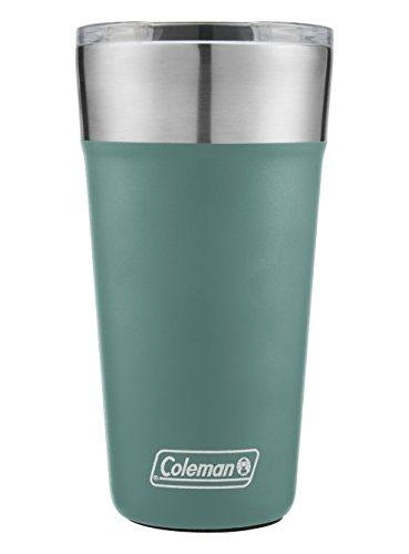 Coleman Brew Insulated Stainless Steel Tumbler, Seafoam, 20 oz.