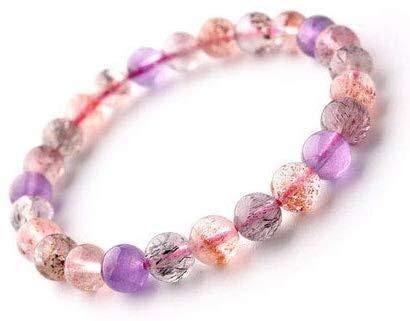 Armband Kristall Armband 7 mm lila Haare Kristallarmband weibliche Erdbeere