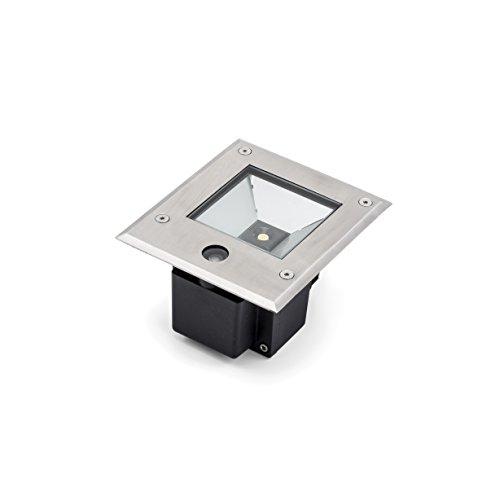 Gnosjö Konstsmide Flut- & Spotbeleuchtung, Aluminium, Integriert, 6 W, silbergrau, 15.5 x 13.5 x 11 cm