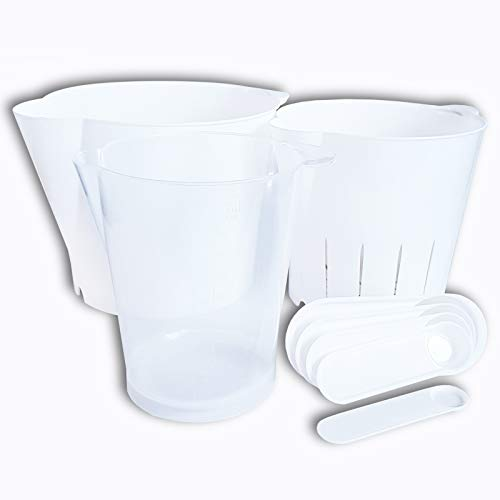 TopDeal Lot de 24 tasses à mesurer pour le dos 8 pièces