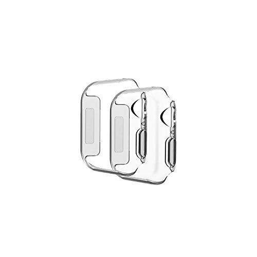 Compatible con la serie de protectores de pantalla de Apple Watch, transparente suave cubierta protectora de cobertura completa compatible con iWatch (2 unidades) (40 mm)
