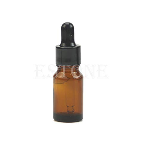 CAREMiLLE ¡Caliente! 5-100Ml Botella de pipeta de reactivo líquido de Vidrio ámbar Aromaterapia de Gotas para los Ojos, Caja de Almacenamiento, Vidrio ámbar