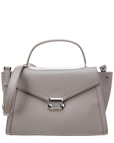 """14""""W x 8.5""""H x 5.75""""D adjustable strap with a 17""""-19"""" drop 1 main compartment, wall zip pocket, front slip pocket, back slip pocket leather handle with a 4"""" drop silver-tone hardware"""