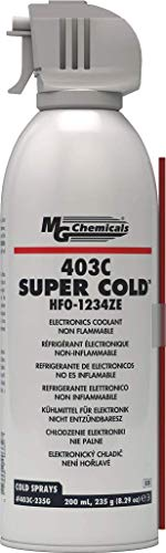 MG Chemicals 403C Super Cold Spray, HFO-1234ZE, 235 Gram Aerosol, 8 oz Aerosol