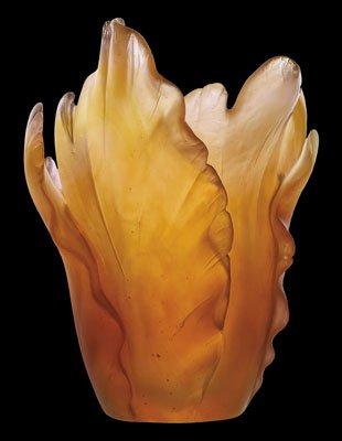 Daum 05213-1 Vase, Tulipe, bernsteinfarben