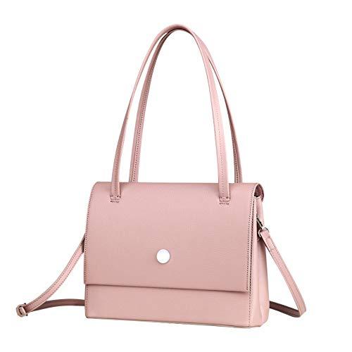 Frauen - Modischen Retro - Schlichte Handtasche Reine Farbe,Honig - Pulver