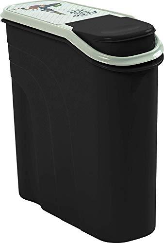 Rotho Filo Aufbewahrungsbox für Tierfutter 6l mit Schütte, Kunststoff (PP) BPA-frei, anthrazit/motiv, 6l (28,0 x 12,0 x 28,0 cm)