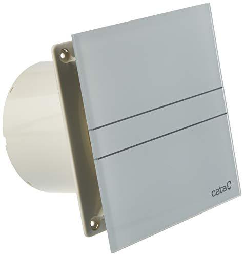 Cata | Extractor baño | Modelo e- 120 GT | Estractor de baño Serie e Glass | Bajo Consumo | Ventilador Extractores de aire alta Eficiencia Energética | Extractor baño silencioso