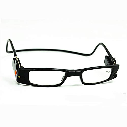 Leesbril met LED-verlichting, magnetisch voor mannen en vrouwen, zwart