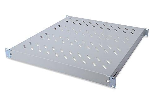 """Preisvergleich Produktbild DIGITUS Professional DN-97644 - Fachboden mit variabler Tiefe zum Festeinbau in 19"""" Schränke - Traglast 50 kg - ab 600 mm Schranktiefe - 1HE - Farbe grau"""