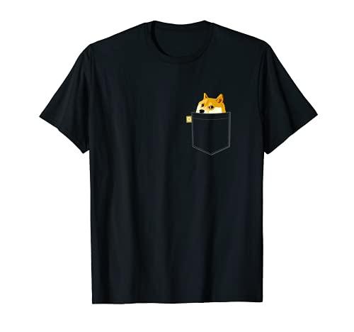Doge coin Shirt Camisa con bolsillo de imitación Dogecoin to Camiseta