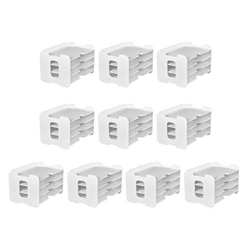 #N/a 10x Archivos de Bricolaje Soporte de Almacenamiento de Papelería para Organizador de Oficina Accs Kit Blanco