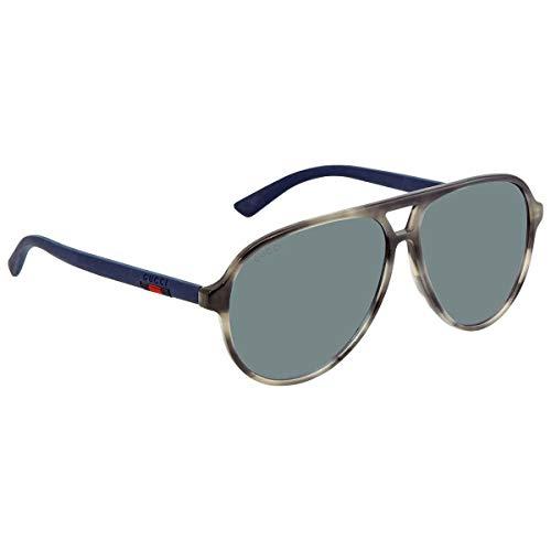 Gucci occhiali da sole uomo GG0423S aviator (010 grigio specchiato)