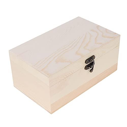 MUY Caja de Madera para joyería, Caja de Almacenamiento de Reloj para joyería, Anillo, Pendiente, Pulsera, Collar, Tienda de baratijas para Mujer, Caja de Recuerdo