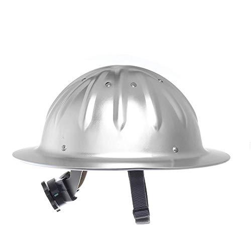 Leichter hochfester Aluminium-Schutzhelm mit Vollkrempe für den BAU des Eisenbahn-Metallurgieminen-Schiffbaus-Silber