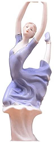 WQQLQX Statue Harz Skulptur Tanzen Mädchen Statue Wohnaccessoires Handwerk Kleine Ornamente Zimmer Schlafzimmer Dekoration Zubehör Kunstfiguren Geschenke Skulpturen