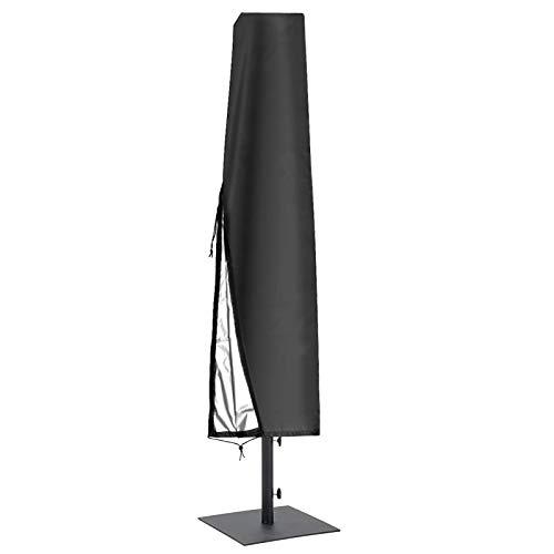 Funda para Parasol,Cubierta para Sombrilla de Tela Oxford 210D Impermeable Anti-UV Resistente Al Desgarro con Cremallera,para Sombrilla Jardín Antipolvo Resistente A Los Rayos UV (183 * 25 * 35 cm)