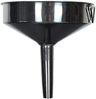 Entonnoirs Entonnoir de cuisine en acier inoxydable grand entonnoir de cuisine en métal liquide avec filtre amovible enton...