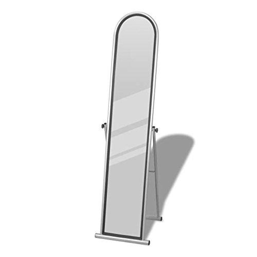 TiverBest Standspiegel Ankleidespiegel Ganzkörperspiegel grau