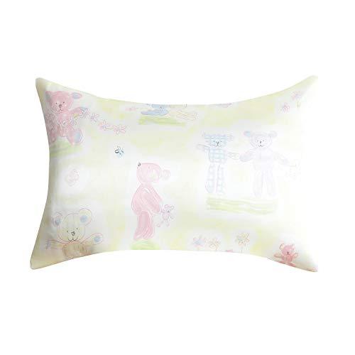 100% Mulberry Toddler Silk Pillow Cases for Kids Hypoallergenic Pillowcase for Kindergarten Printed