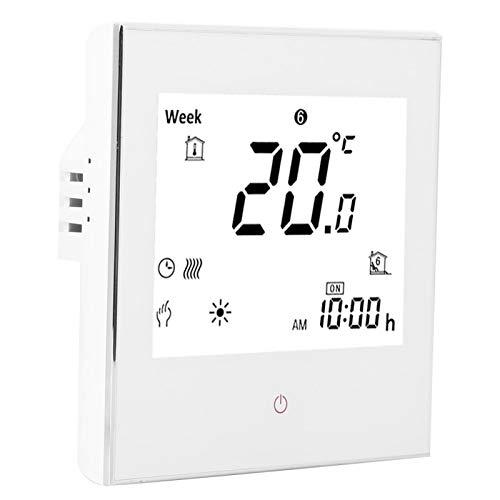 RBSD Termostato programable, termostato Digital con Pantalla táctil, Sala de Estar de Oficina para Sala de calefacción doméstica(White)
