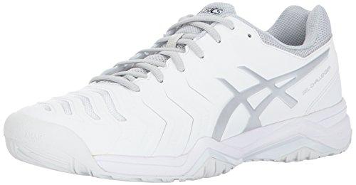 ASICS Mens Gel-Challenger 11 Tennis Shoe, White/Silver, 14...