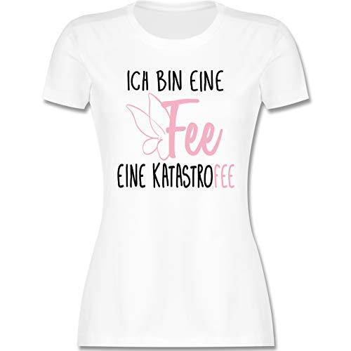 Sprüche - Ich Bin eine Fee - S - Weiß - sprüche Shirt Frauen - L191 - Tailliertes Tshirt für Damen und Frauen T-Shirt