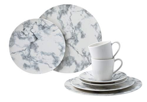 Villeroy & Boch 1951638855 Marmory - Vajilla (8 piezas), color blanco (1 unidad)