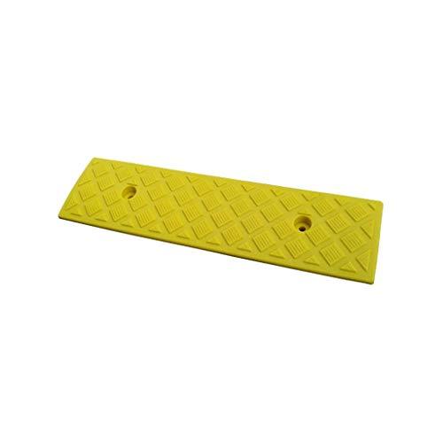 Gjrff Auto Curb Ramps, Leichtbautür Rampe Schwelle Rampen for Rollstühle, Autos Fahrzeuge, Wohnwagen, Roller Räder, Skateboard, Motorrad, Behindertenstuhl (Color : Yellow, Size : 49.5x13x3CM)