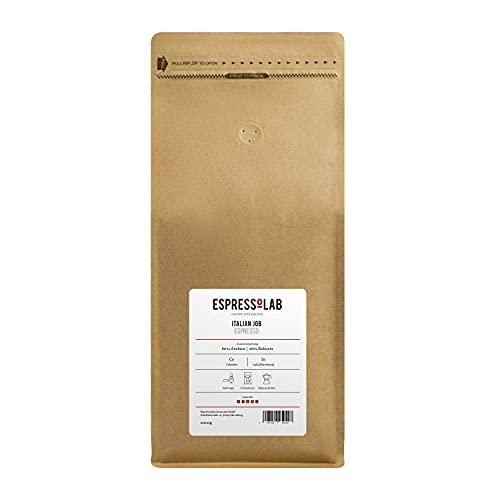 ESPRESSOLAB 'Italian Job' Espresso/Café Crema Kaffeebohnen   kräftig, säurearm   Vollautomat, Siebträger   80% Arabica : 20% Robusta   1kg   Premium Kaffee aus Privatrösterei