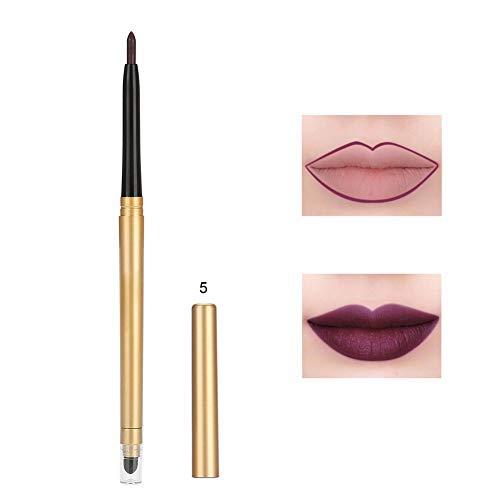 Mat lipliner, duurzame natuurlijke lippenstift-stift-cosmetische lipliner-potlood vormen gereedschappen 5#