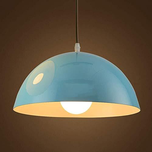 ZAQXSW Decken Lüster Moderne Metall Pendelleuchte Shade Dinning Deckenleuchte Restaurant Loft Lampenschirm Küche Coffee-Shop Kronleuchter (Color : Blue)