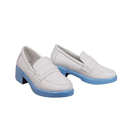 DUNHAO COS Anime Women's Hatsune Miku Kagamine Len White Cosplay School Custom Shoes Boots Male US 9/EU43