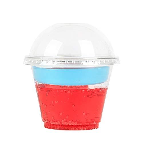 GOLDEN APPLE, 9oz Parfait Cups with lids. 2oz Insert & Dome lid, Clear Cups 3-Piece. Dessert Cup, 50sets