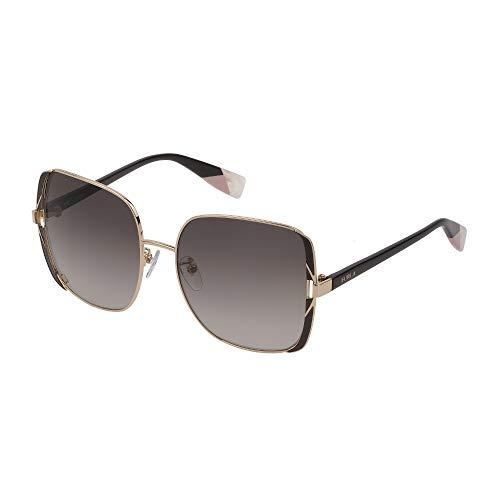 FURLA SFU343 0A93 57-17-135 - Gafas de sol para mujer, color oro rosa, lentes de color verde degradado