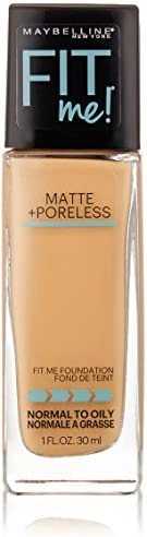 Maybelline New York Fit Me Matte Plus Poreless Foundation Makeup Rich Tan 1 Fluid Ounce product image