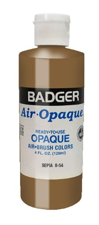 Badger Air-Brush Company Air-Opaque Airbrush Ready Water Based Acrylic Paint, Sepia, 4-Ounce