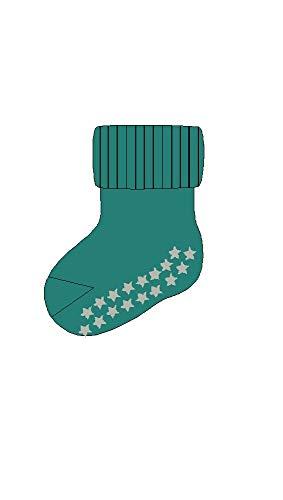 FALKE Babys Socken Catspads Cotton, 96prozent Baumwolle, 1 Paar, Grün (Petrol 7303), Größe: 62-68
