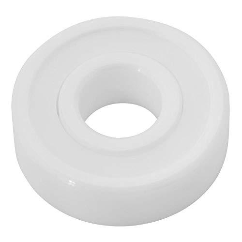 Cojinete de cerámica completo, 6000-2RS ZrO2 10 * 26 * 8 mm/0.4 * 1 * 0.3in Cojinete de cerámica de color blanco en miniatura